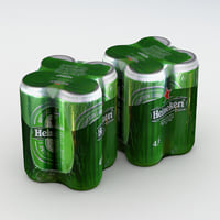 Beer Can Heineken 500ml 4pack B