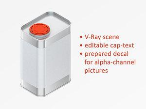 3D square model