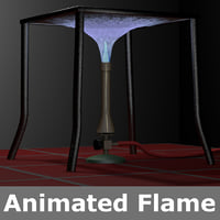 3D bunsen burner blue flame