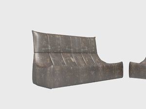 rock sofa gerard van 3D model