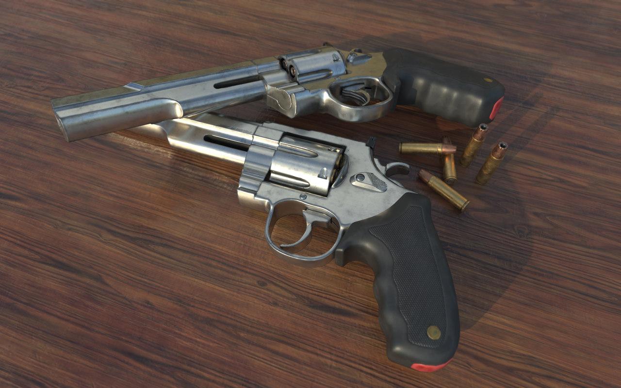 revolver bullets pbr 3D