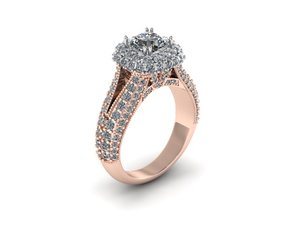 3D tone wedding ring model