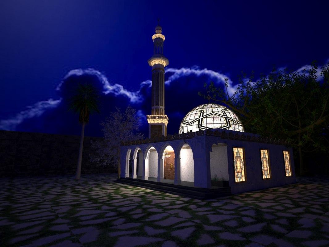 3D mosque model