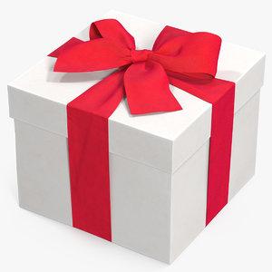 gift box white model
