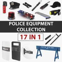 police equipment 3D model