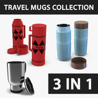 3D travel mugs