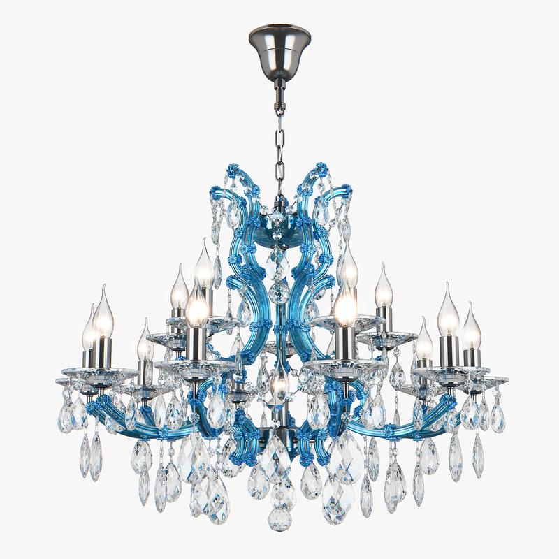 698165 champablu osgona chandelier 3D model