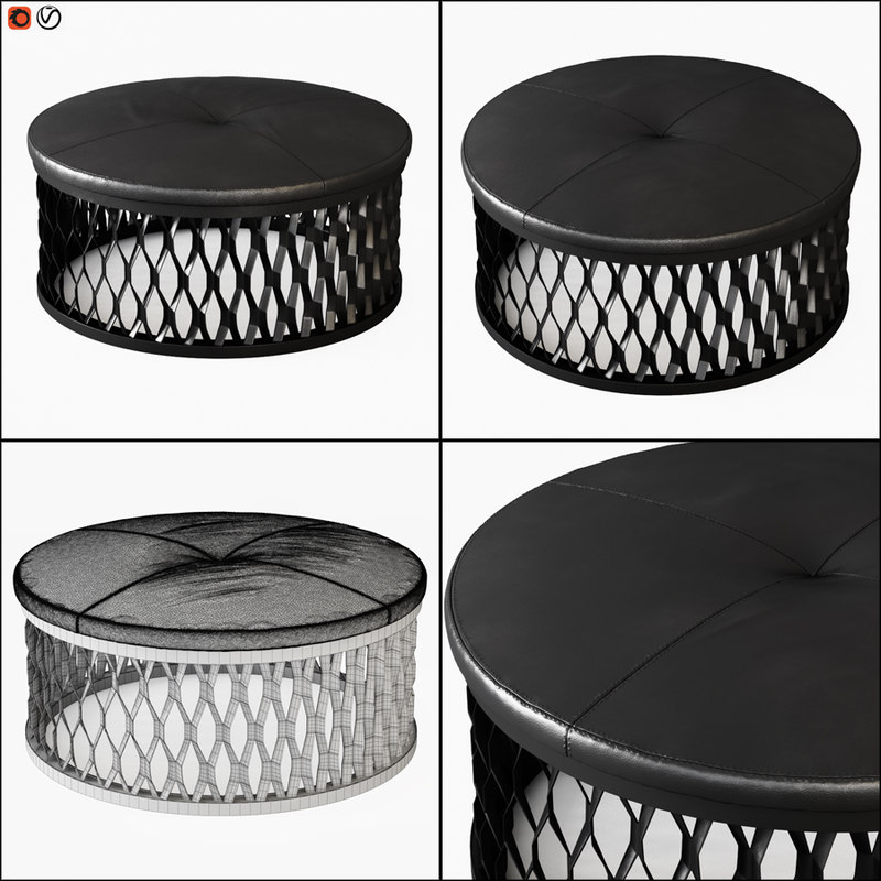 pouf steelo 3D model
