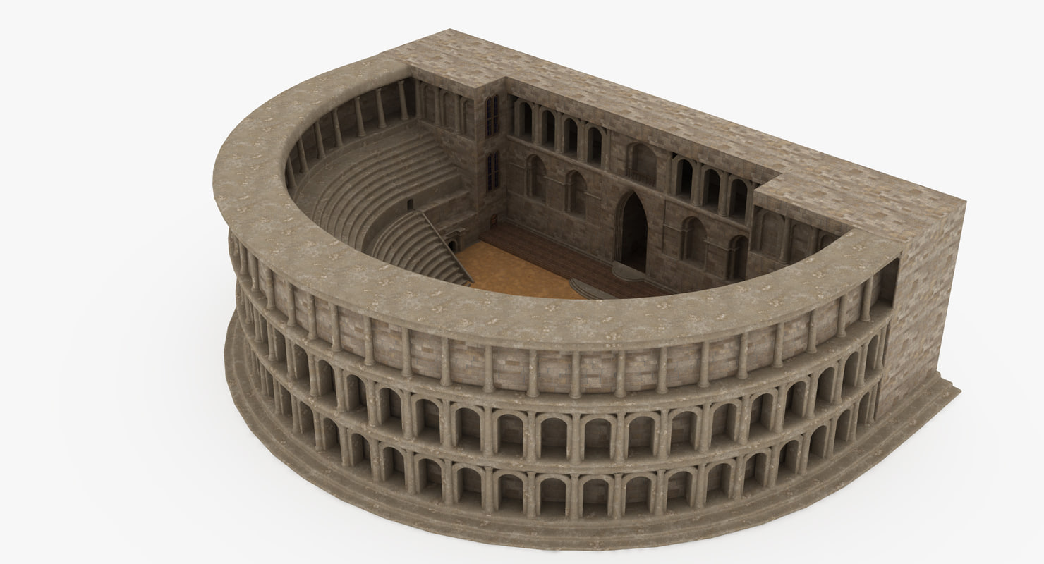 3D antique theatre model