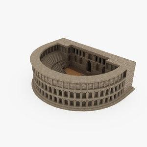 3D antique theatre model
