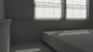 bedroom basement 3D