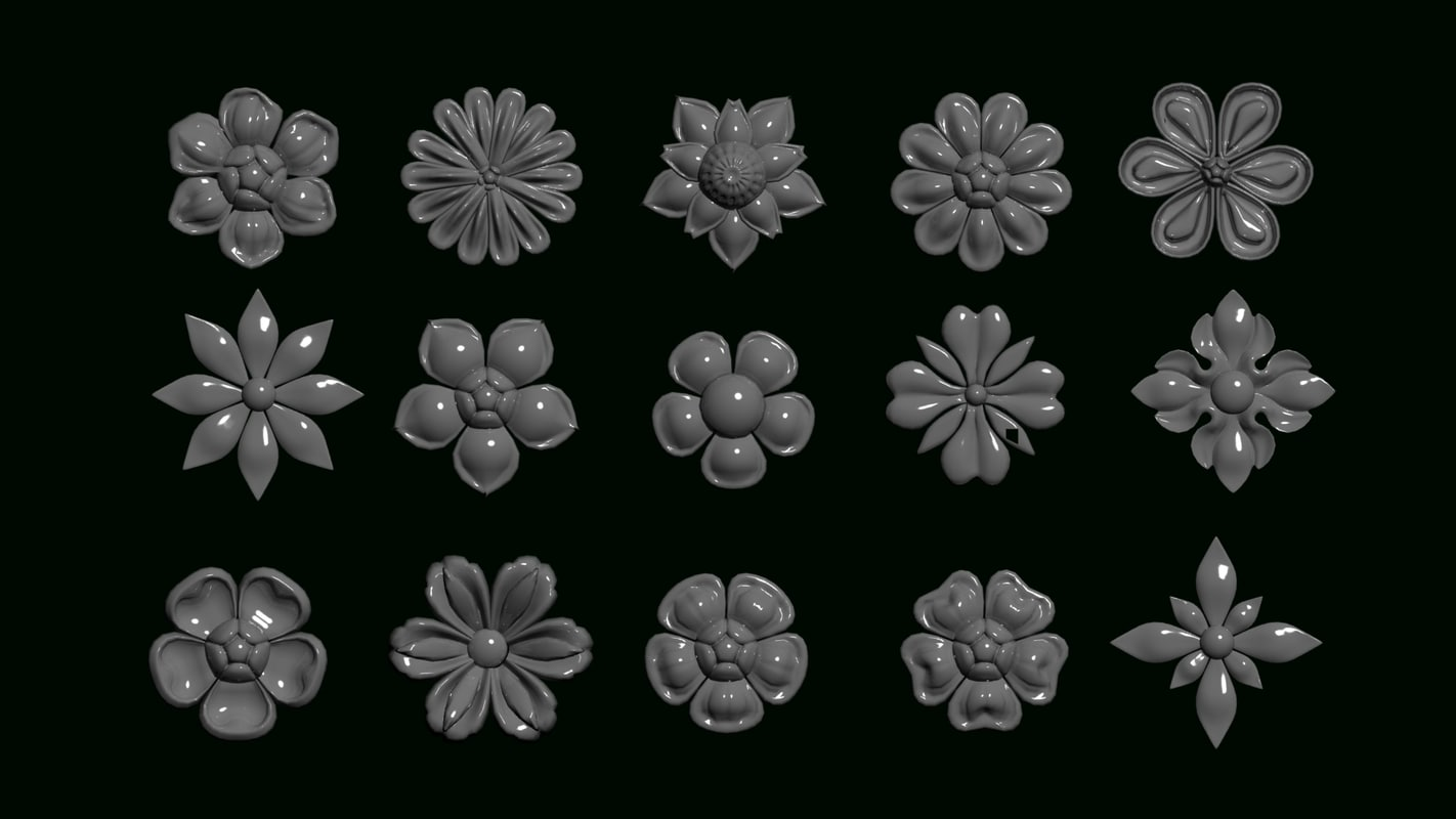 3D flower ornament