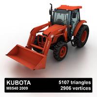 3D model 2009 kubota m8540