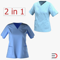Doctor Clothing 3D Models Collection 4