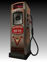 3D gas pump vintage model