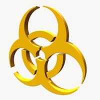 3D symbol biohazard