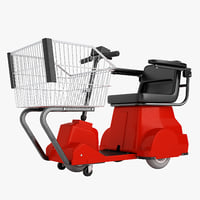 3D electric shopping cart