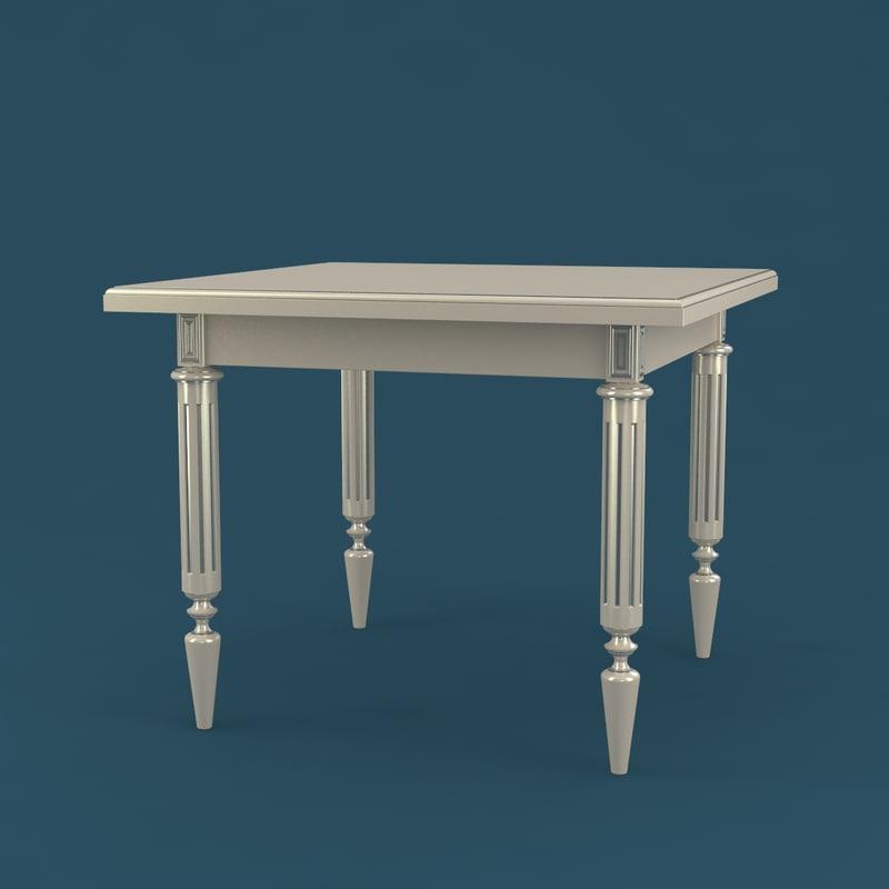 table classical 3D model