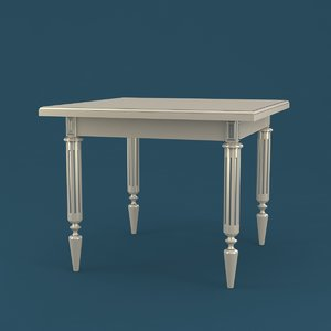 table classical 3D model