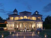 colonial villa 3D