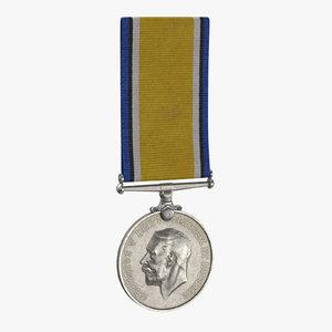 3D military medal 02 model