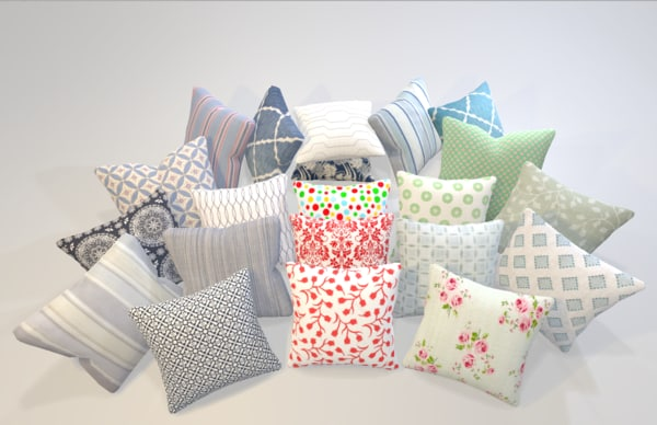 3D universal pillows sofa pack