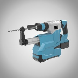 3D electric rotary hammer drill