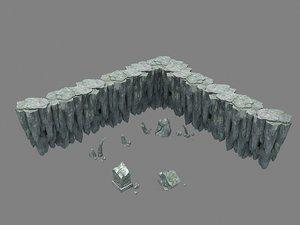 rocks hill stone 3D model