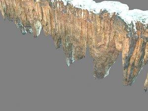 mountain rock 3D model
