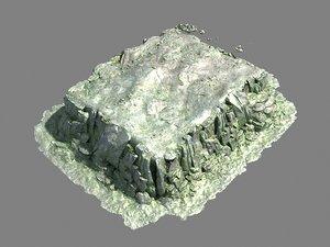 3D mountain rock model