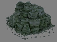 A pile of rocks