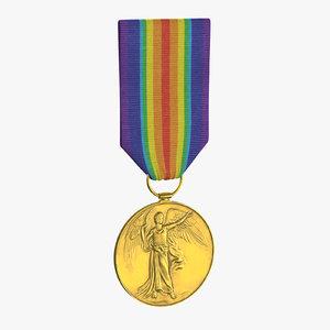 military medal 03 3D model