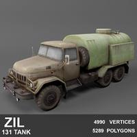 3D russian zil 131 tanker model