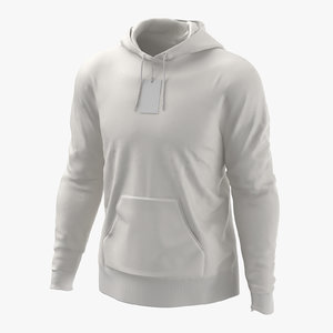 3D male standard hoodie worn model