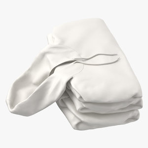 female fitted hoodie folded 3D model
