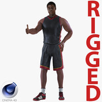 basketball player rigged 3D