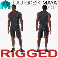 Basketball Player Rigged for Maya