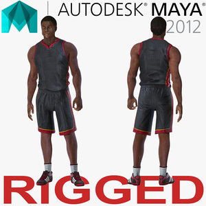 basketball player rigged 3D model