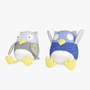 plush owl 3D