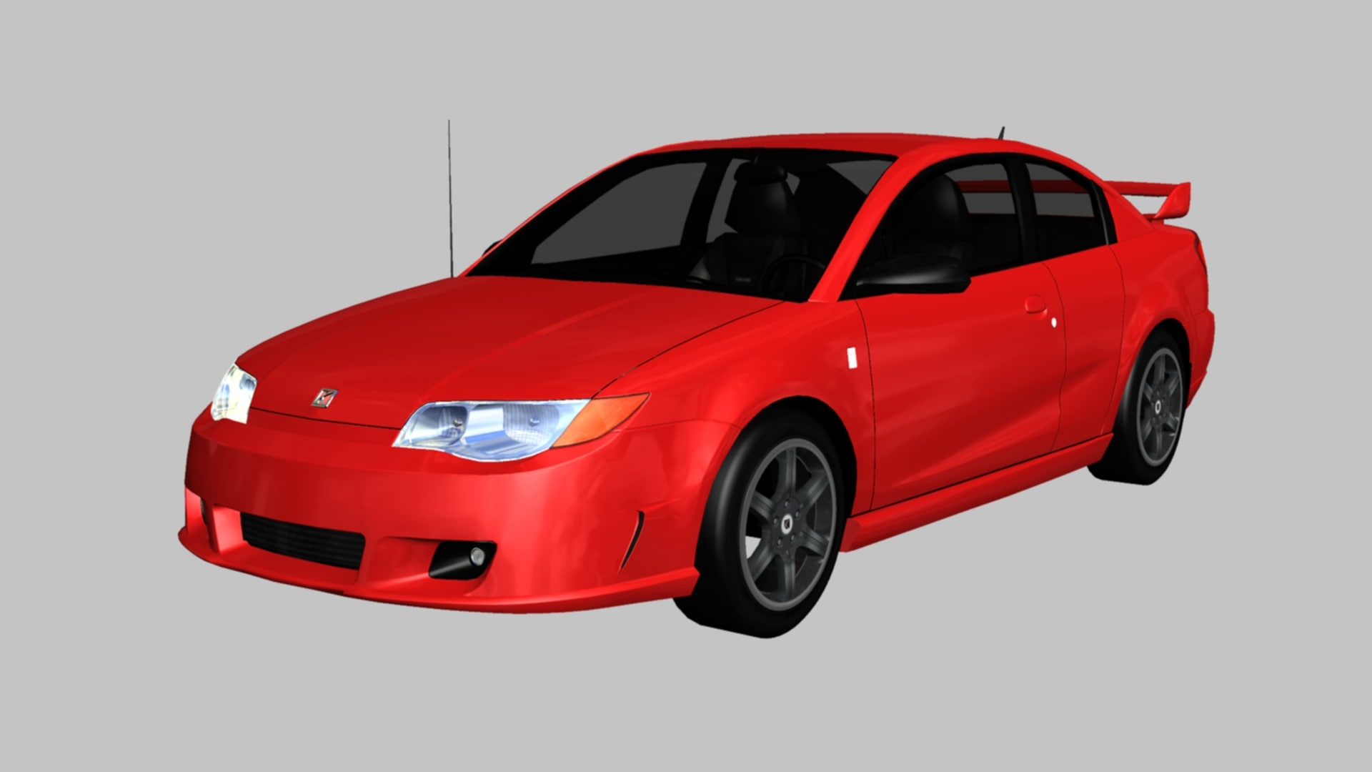 3D saturn ion red