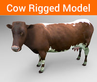 cow rigged model
