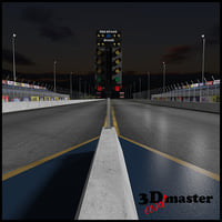 3D drag dragway model