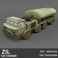3D russian zil 135 tanker