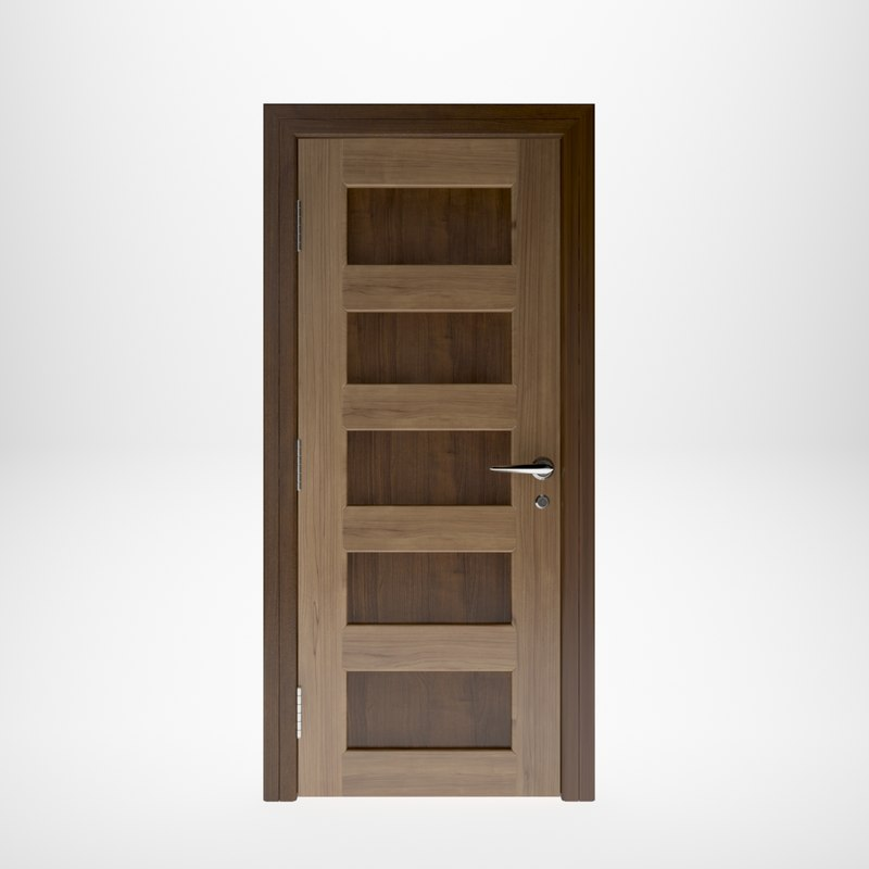 wooden door interior model