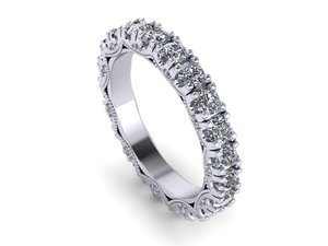 3D female wedding band