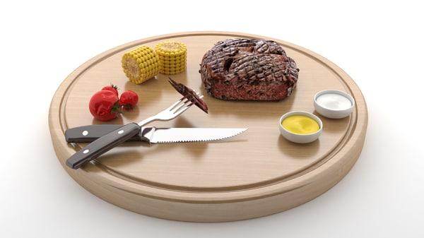 steak wood v5 3D model
