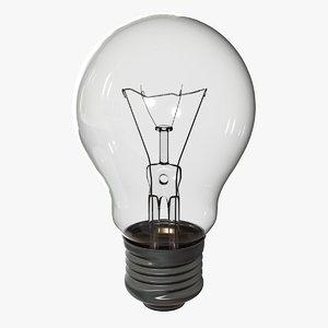 3D light bulb e27 model