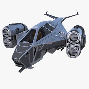 sci-fi spaceship 3D model