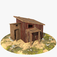 3D model barn cartoon