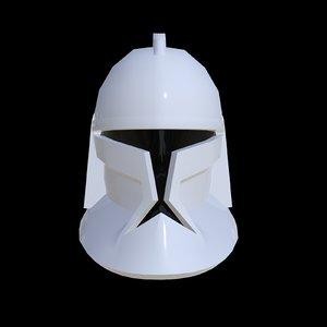 3D clone trooper helmet model